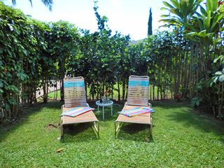 Wailua house photo - Private side yard for sunning.