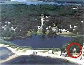 Niantic house rental - Red House Surrounded by Scenic Water Views - Ocean to front and Pond to Side