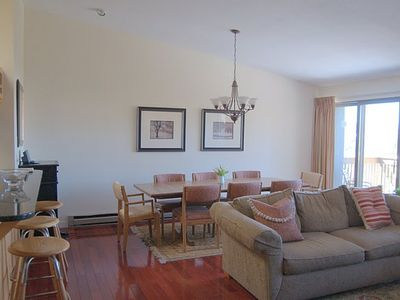 The wide open floor plan makes this condo great for families and groups.