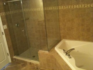 Oceans Mist Ocean City condo photo - Master Bath with Large Jetted Tub for 2 and separate Shower