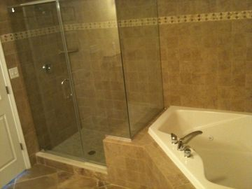 Master Bath with Large Jetted Tub for 2 and separate Shower
