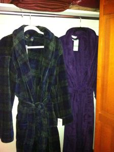 Just added for your comfort. Robes are in both bedroom closets.