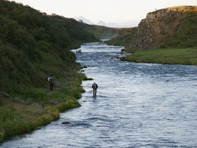 Fishing in Tungufljot river is included