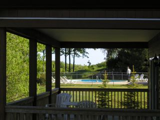 Bellaire / Shanty Creek condo photo - View off deck to private association pool