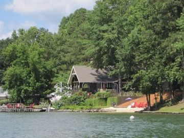 Lake Jordan house rental - View of house from the water