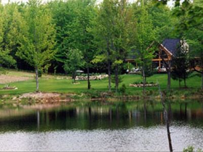 Scenic and serene, only 20 minutes from TC. Woods and water, a beautiful retreat