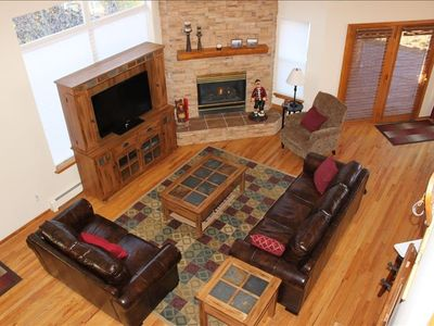 "Great Room with Fireplace and 46"" TV"