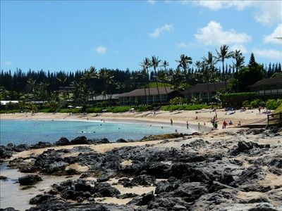 Beautiful Napili Bay beach just a few minutes walk from C-21