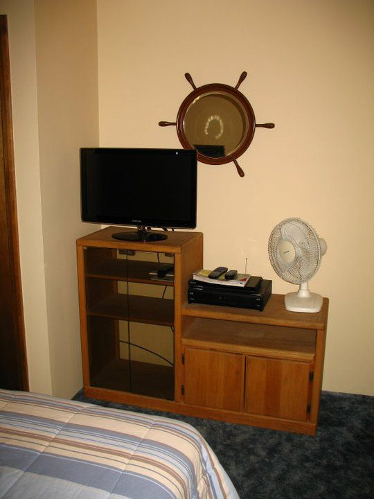 Downstairs Bedroom with smaller flat screen TV, Satellite & DVD player