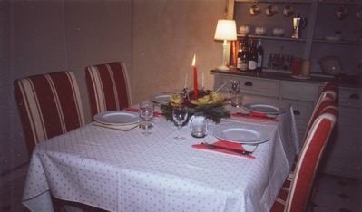 dining table set for a meal