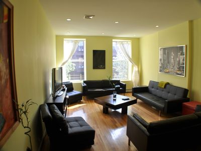 Central Park North apartment rental - 3 Bedroom, living room
