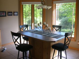 Dining Area - View of Wooded Area and Pentwater Lake - Pentwater house vacation rental photo