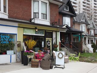 Toronto house photo - flower shop next door to property