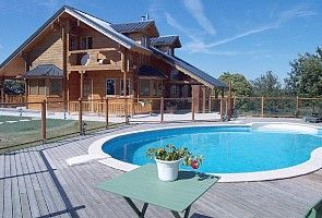 Naillat chalet rental - Private heated pool