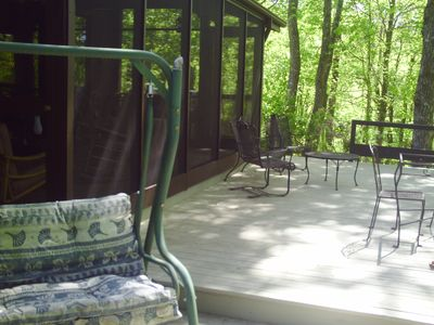 One of three deck levels off of screened in porch