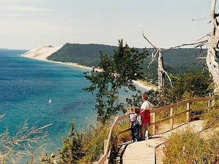 Frankfort lodge photo - Climbing nearby Sleeping Bear Dunes is a must-do.