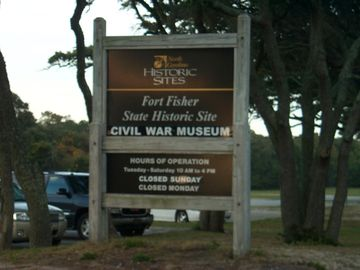 Ft. Fisher Civil War Museum & NC Acquarium on isle