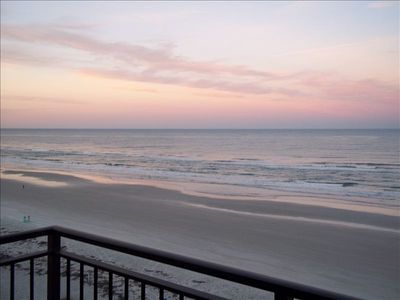 New Smyrna Beach condo rental - Outstanding view from balcony!