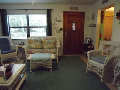 Main Living Room and front entry door