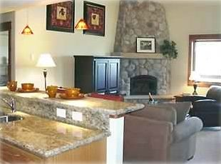 Stunning River Stone Fireplace