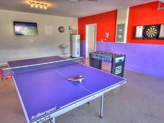 "Champions Gate villa photo - Separate games room, 42"" LCD TV, Table tennis, Darts and Foosball....Family Fun!"