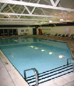 One of the indoor pools in the community.