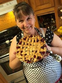 Mountain Ranch cabin rental - Fresh made Cherry Pie from a local Orchard