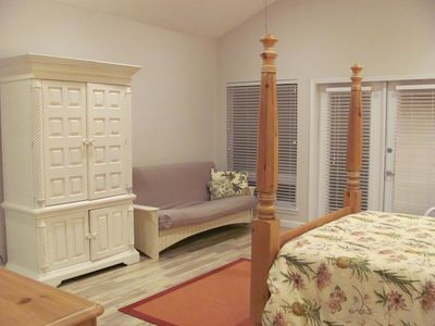 Gulf Shores condo rental - Another view of Master bedroom with full futon sleeper