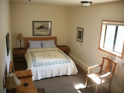 The house has three bedrooms plus detached cabin for extra privacy