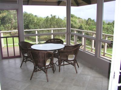Lanai eating area