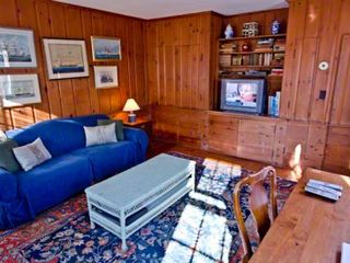 Edgartown house photo - Den Is Wrapped In Wood Paneling With BUilt-ins