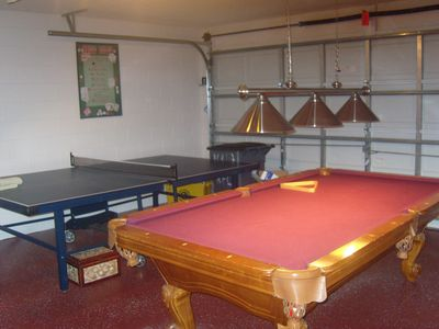 Games room, full size pool table and table tennis.