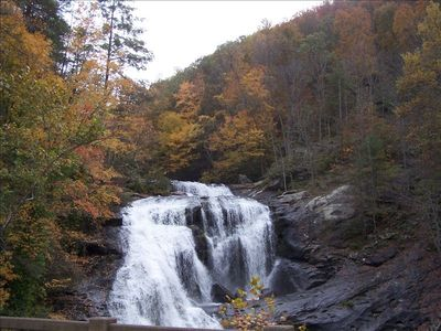 Waterfalls abound in our area. This is Bald River Falls with a 100 foot drop