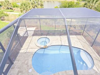 Palm Coast house photo - Turtle Haven has enclosed heated pool and spa
