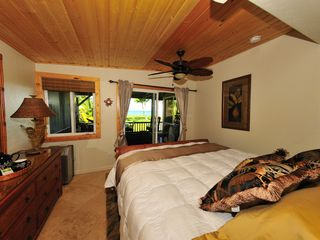 Kihei house photo - Master Bedroom/King Bed/Slider Leading to Private Deck/Ocean Views!! Air