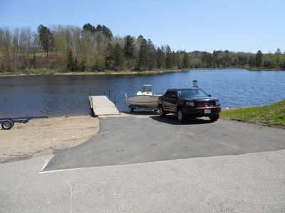 Very nice public boat ramp close to the your private dock