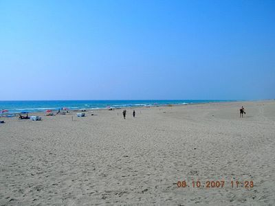 Lots of space on Pataras 18km blue flag beach