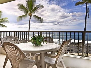 Kailua Kona condo rental - View of the ocean from the lanai
