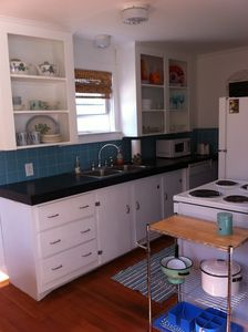Clean Kitchen - Fully Furnished. All new pots and pans, silverware, etc.