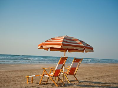 Beach Chairs & Umbrella available for rent