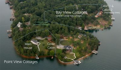 Relationship between the four Silver Bay View Cottages