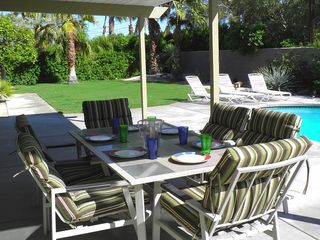 Palm Springs house photo - Your Poolside Fiesta, R & R Await in Beautifully Landscaped Private Backyard.