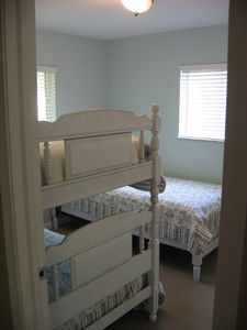 2nd Bedroom with bunks and twin bed
