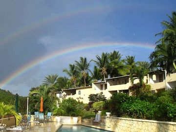 Rainbow over the Villas