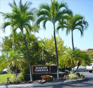 Entrance to the Keauhou Punahele condo complex