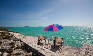 Providenciales - Provo villa photo - seaside deck, perfect for sunbathing, stargazing or just a refreshing dip