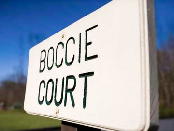 Boccie Court at the Shawnee Village Resort
