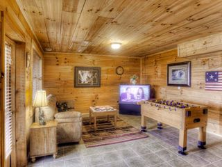 Ellijay cabin photo - Lower level game room with big screen TV