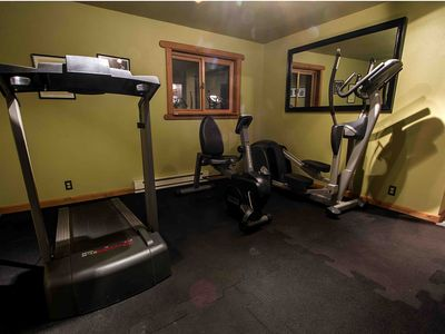 Gym (includes T.V., some free weights and trampoline)