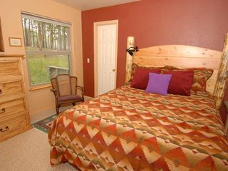 Evergreen house photo - 2nd Bedroom Queen. Same fine Bedding Nice Forest View Rocking Chair Read & Relax